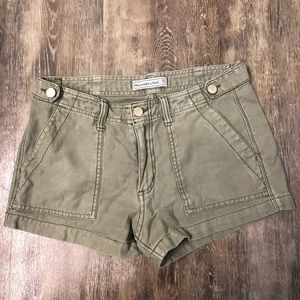 Abercrombie & Fitch Women's Green Shorts